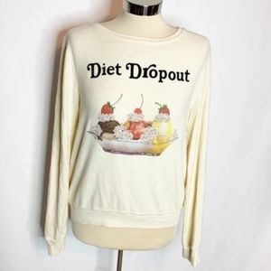 Wildfox diet dropout top beach jumper sweatshirt